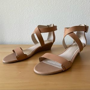 Seychelles Inspect Leather Wedge Sandals Size 7.5